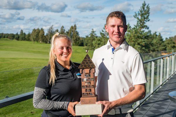 Saaremaa Open 2018 võitjad Karola Soe ja Fred Koskinen